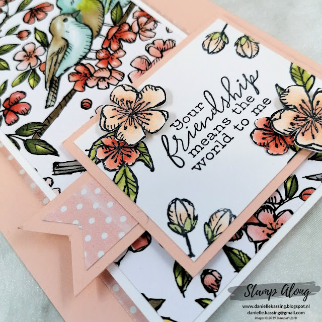 Stampin' Up! Free as a Bird double funfold