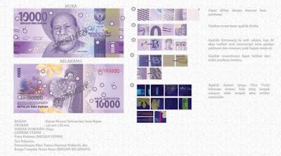 Uang rupiah baru pecahan Rp 10 ribu kertas