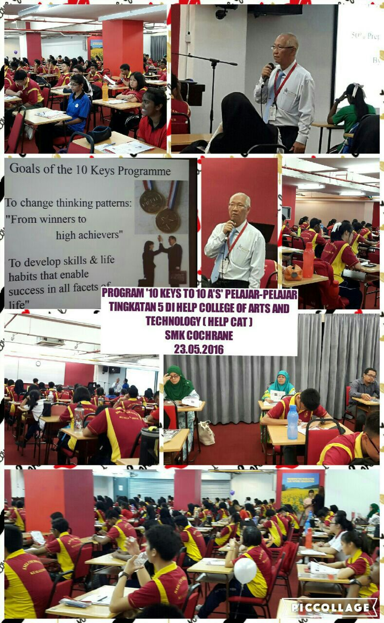Program '10 keys to A's pelajar-pelajar tingkatan 5 @Help College of Arts of Technology