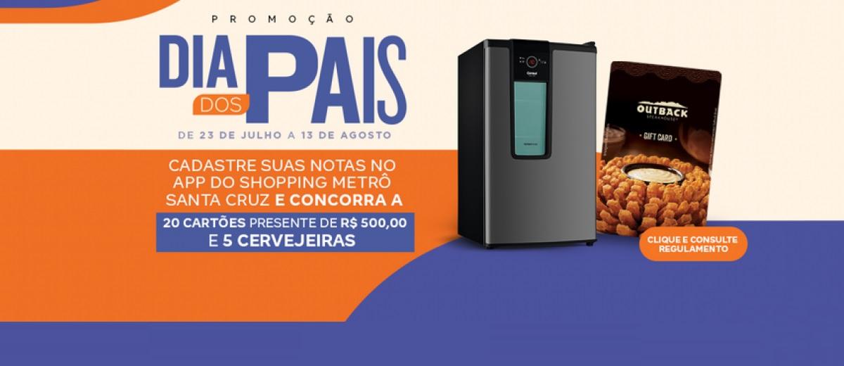 Promoção Dia dos Pais Shopping Metrô Santa Cruz 2021 - Cartões Presente e 5 Cervejeiras