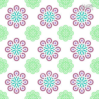 Modern Batik Seamless Vector Pattern