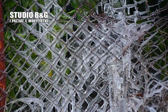 Παγωνιά με θερμοκρασίες κάτω του μηδενός στην Αργολίδα