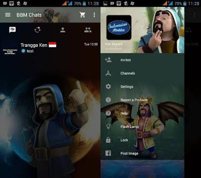 BBM Mod Tema Clash of Clans apk 3.2.5.12 New CoC