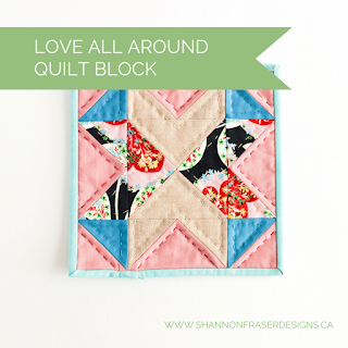 Love All Around Quilt Block