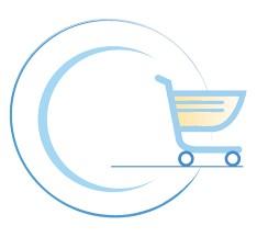 Logo Polos lingkaran dan roda belanja