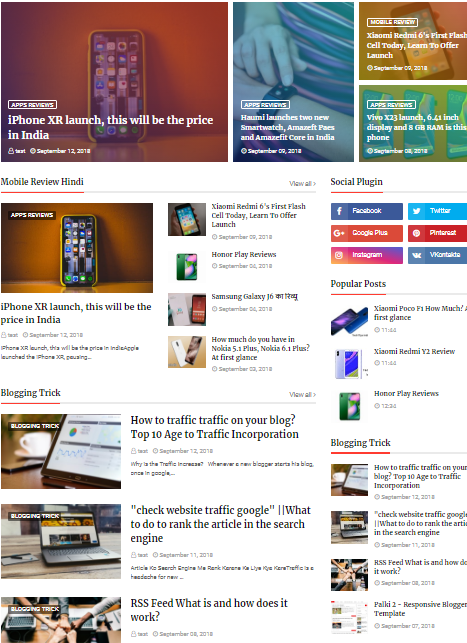 Newsplus Blog Magazine Blogger Template Free Download 2018 Review
