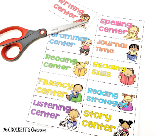 Editable labels to keep your literacy centers organized