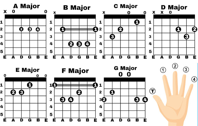 Major Notes Guitar Chords