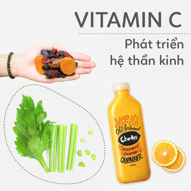 Hướng dẫn Mẹ Bầu bổ sung Vitamin C - Phát triển hệ thần kinh cho thai nhi