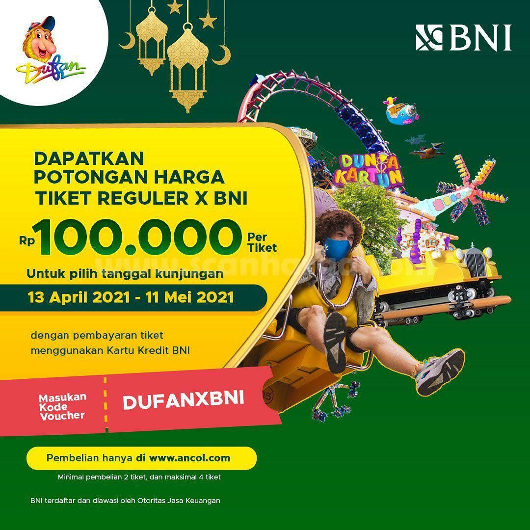 DUFAN X BNI Promo DISKON Harga Tiket Reguler Rp 100.000 per orang