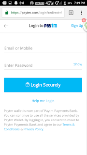 paytm login and signup