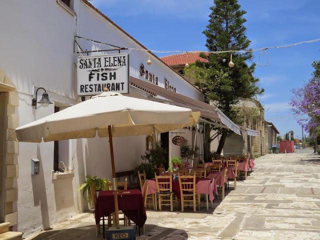 Cyprus Road Trip: Santa Elena Fish Restaurant in Zygi Fishing Village
