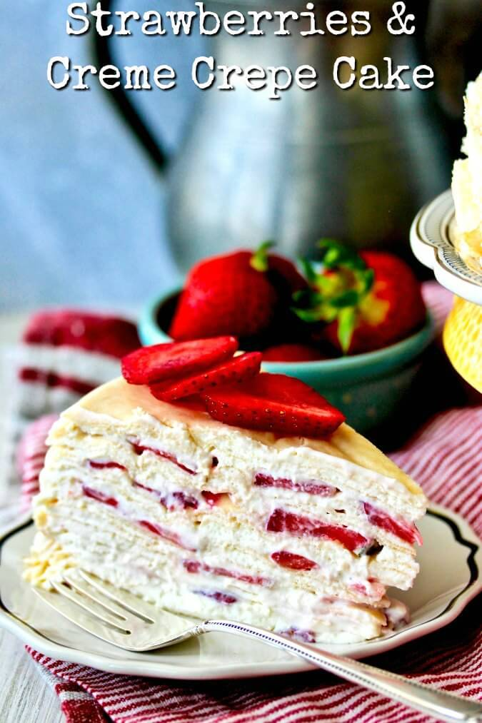 Strawberries and Cream Crepe Cake