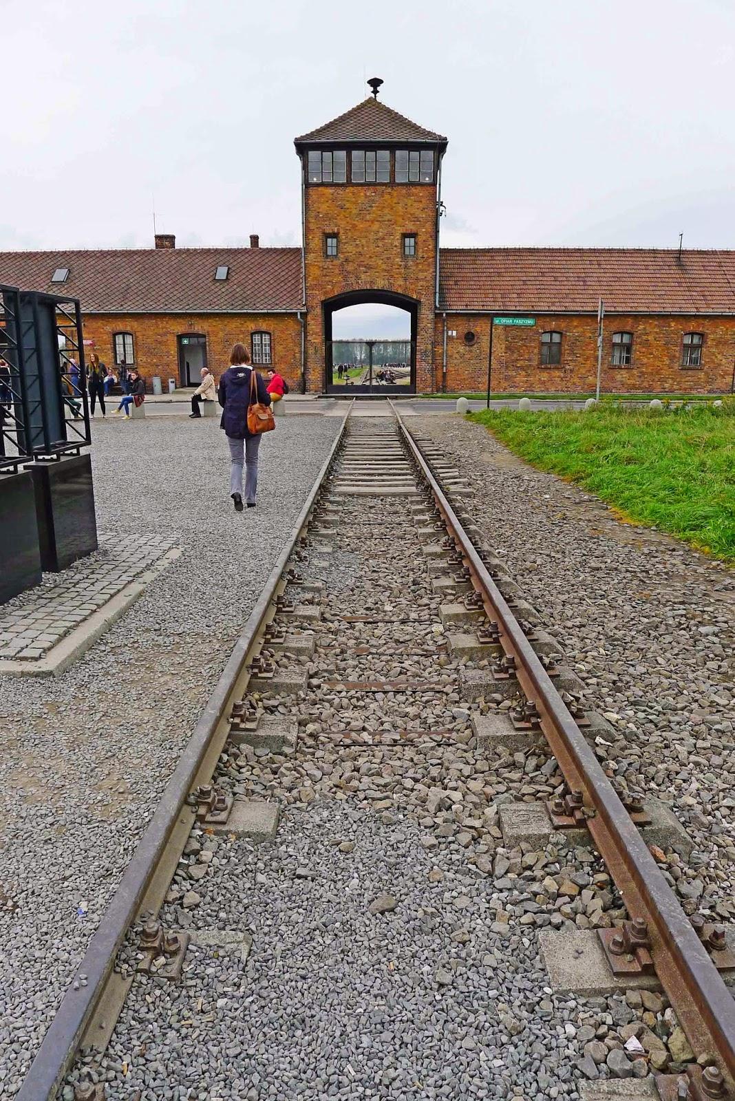 Entrance to Auschwitz Birkenau