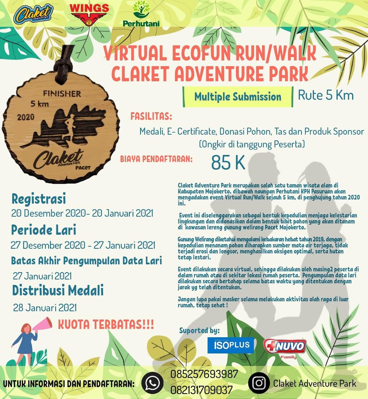 Claket Adventure Park - ECO Fun Run • 2021