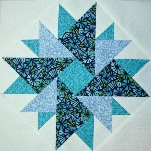 Double Aster Quilt Block - Tutorial