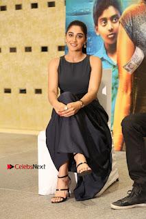 Actress Regina Candra Stills in Beautiful Blue Long Dress at Nagaram Success Meet  0162.JPG