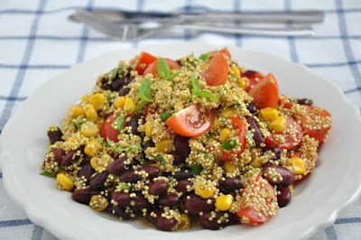 Mexican Brown Rice, Bean and Corn Salad