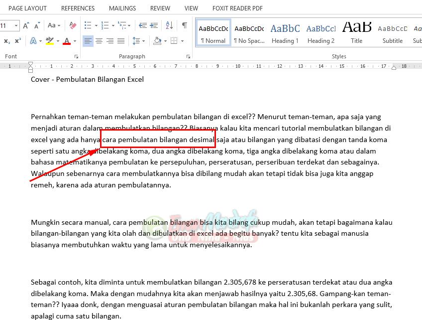 Hasil copy paste artikel dengan Keep Text Only di word