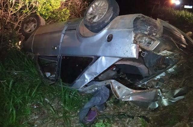 Palmital: Família se envolve em acidente na BR-158, próximo ao Rio Piquiri