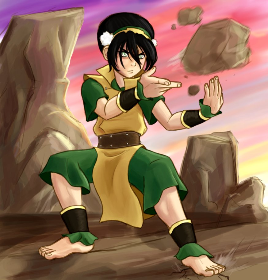 CÓMIC VS MANGA: Bullet Time: Toph vs Gaara