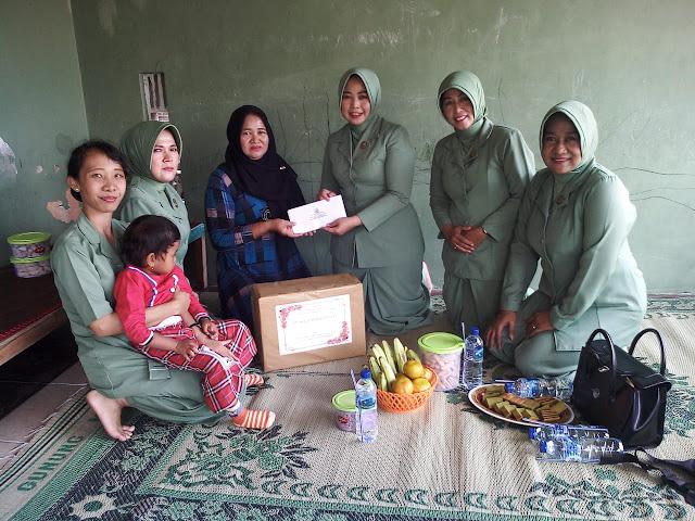 Anjangsana : Wujud Kepedulian Persit Kodim Sragen Terhadap Keluarga TNI Maupun PNS