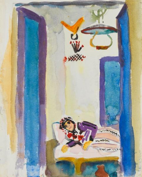 Dona en un divan (Paul Klee)