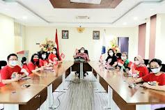 Wagub Steven Kandouw Didampingi Kadis DP3A Ikut Zoom Meeting Bersama Presiden