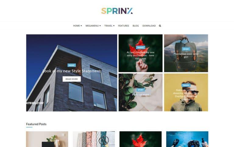 Sprinx Responsive Blogger Template