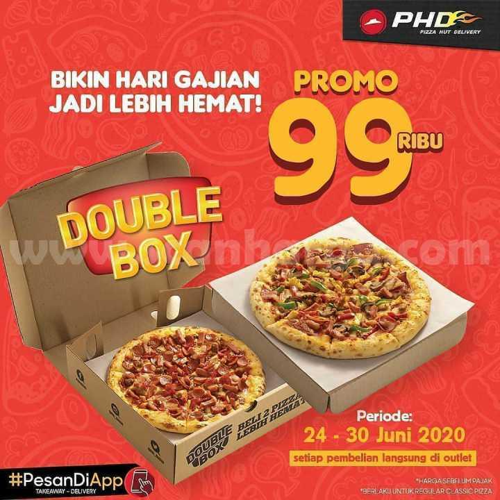 PHD Gajian Promo Double Box Pizza 99 Ribu Periode 24 - 30 Juni 2020