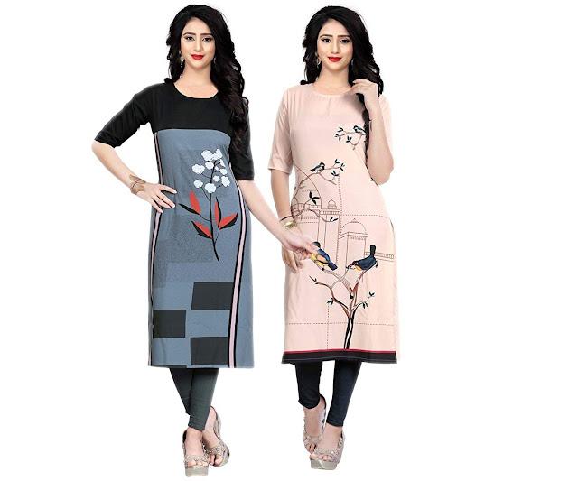 Crepe Stitched Kurti Combo for Women