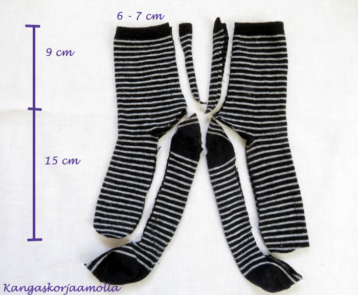Ompele rikkinäisistä sukista