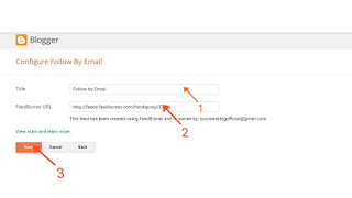 How to Add Email Subscriber Button in Blogger?