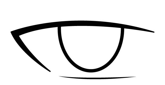 Anime mata laki-laki iris