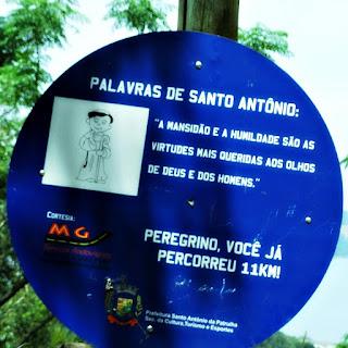 Placa de Onze Quilômetros - Caminho de Santiago, Santo Antônio da Patrulha