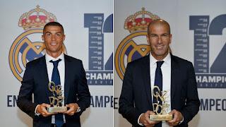 Cristiano Ronaldo and Zidane awarded 'Onze d'Or'