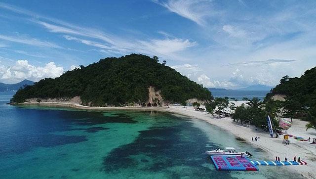 keindahan pulau tegal mas