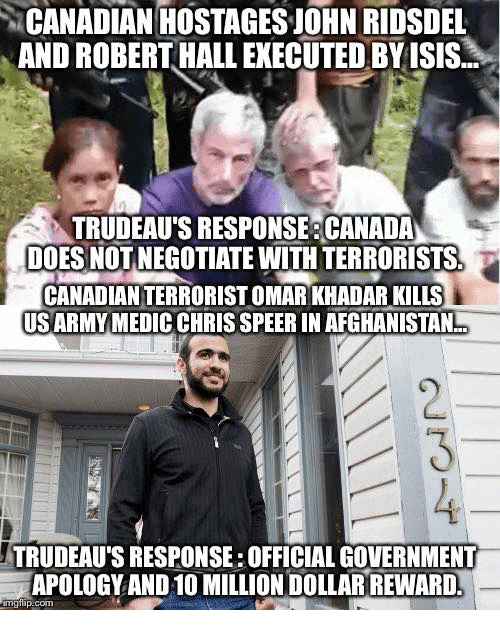 Trudeau does not negotiate with terrorists