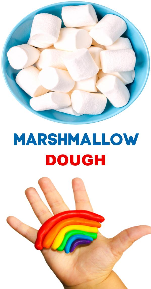 Make play dough for kids using marshmallows!  #marshmallowplaydough #tastesafeplaydough #playdoughrecipe #playdoughactivities #growingajeweledrose