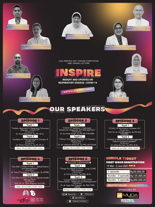 INSPIRE 2021 - Insight and Updates on Respiratory Disease: COVID-19 (Simposium dan Grand Lecture)