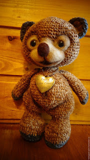 Вязаная игрушка медведь крючком