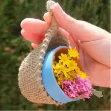 Macetero Colgante a Crochet