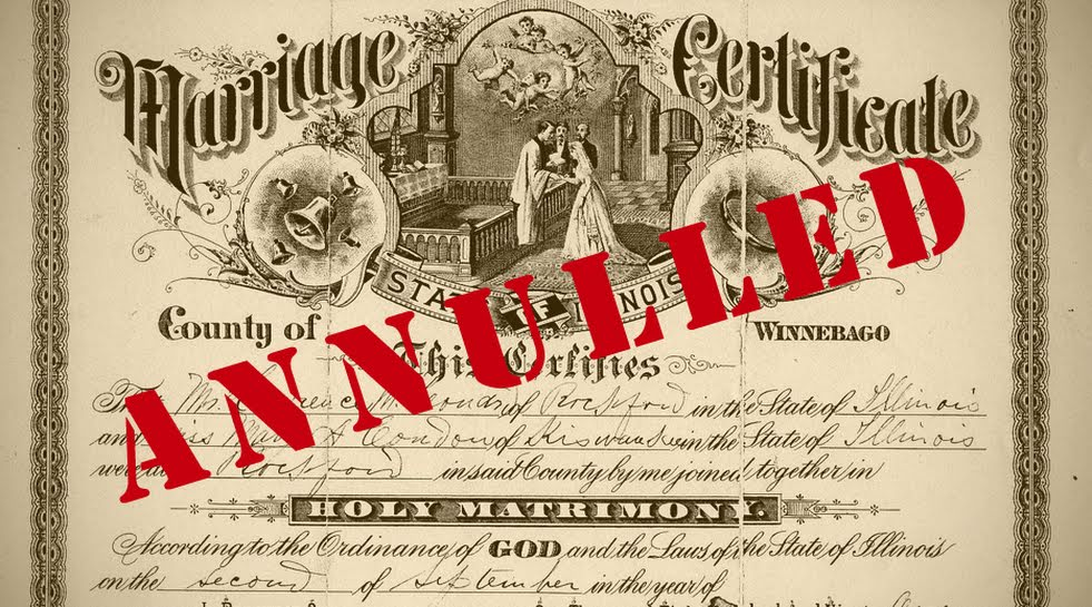 Catholic divorce annulment
