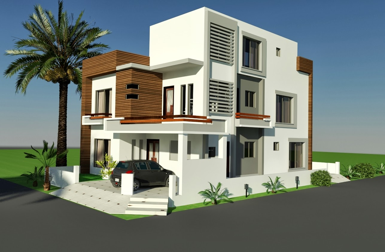 Home Design: 3D Front Elevation.com: 10 MARLA CORNER HOUSE PLAN DESIGN