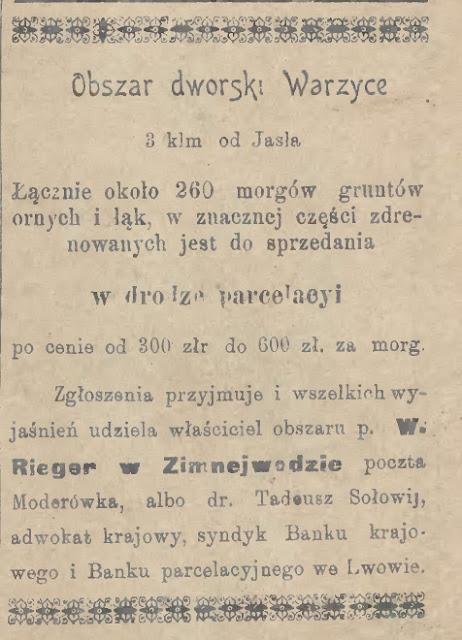 Warzyce dwór 1903