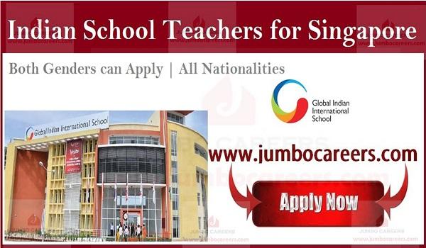 Latest School jobs in Singapore, Singapore school jobs vacancies,