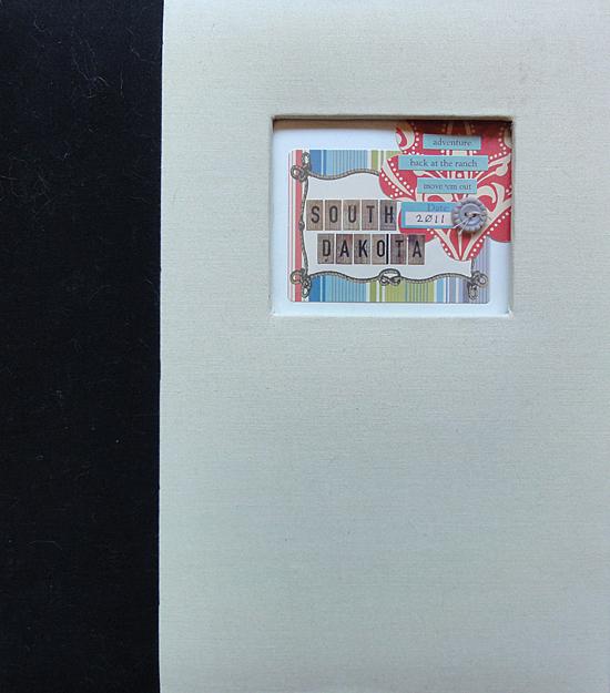 Midwest Scrapgarden Vacation album traditional scrapbook
