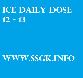 ICE DAILY DOSE 12 - 13