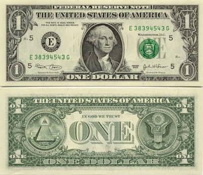 Resultado de imagen para illuminati en el dolar