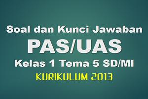 Download Soal dan Kunci Jawaban PAS/UAS Kelas 1 Tema 5 SD/MI Kurikulum 2013
